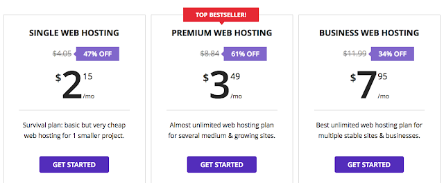 Hostinger shared hosting plans
