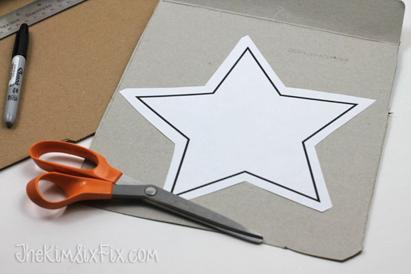 I Cut It Out Of The Chipboard The Corrugated Cardboard
