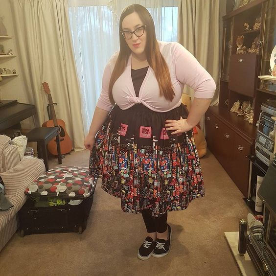 Plus size Lindy Bop Audrey Tokyo Print Swing Dress