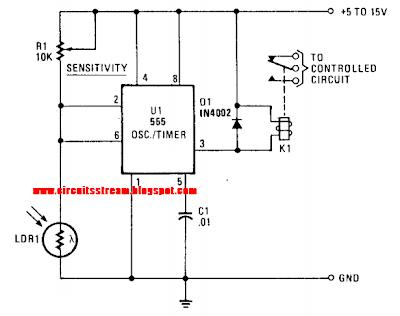 Simple Photo Alarm Circuit Diagram