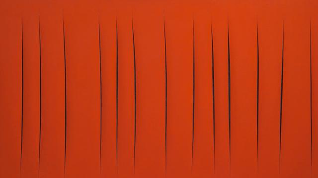 Одним з найзначніших творів Лучіо є Concetto spaziale, Attese з 1965 року. Захоплююче червоне полотно, що має 24 розрізи, найбільше у всіх творіннях. Натхненням, для створення цієї роботи були спадок Микеланджело та червона пустеля  спаціалізм