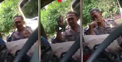 Viral di Medsos, Oknum Polisi yang Pungli Sopir Truk Ditahan