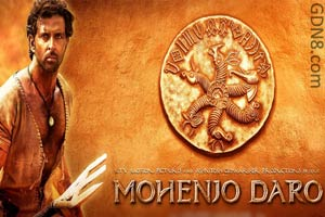 Mohenjo Daro Hindi Movie Poster - Hrithik Roshan & Pooja Hegde