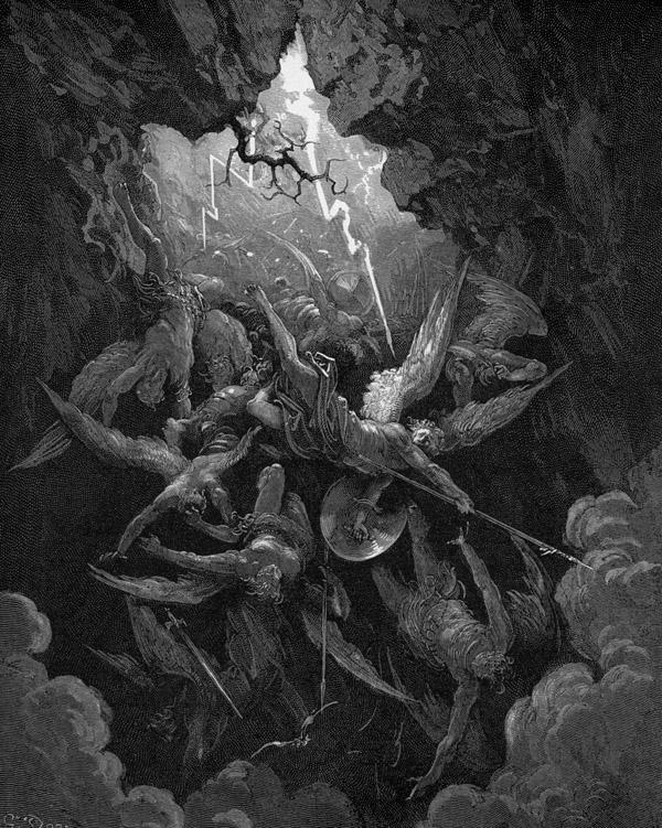 Resultado de imagen de CRUZ CALVARIO caida de lucifer infierno
