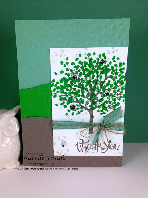 Sheltering Tree - Sassy Salutations - Decorative Dots Embossing Folder - Retiring Products - Narelle Fasulo - Simply Stamping with Narelle - available here - http://www3.stampinup.com/ECWeb/ItemList.aspx?categoryid=120700&dbwsdemoid=4008228