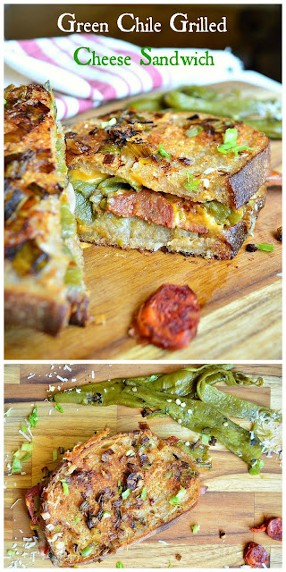 sandwich, green chile, grilled cheese, chorizo