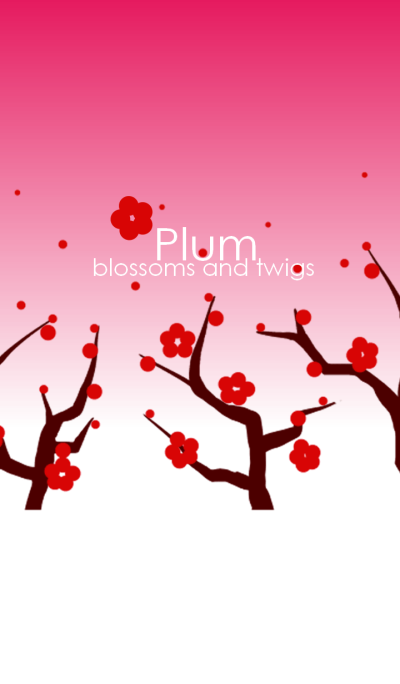Plum blossoms and twigs
