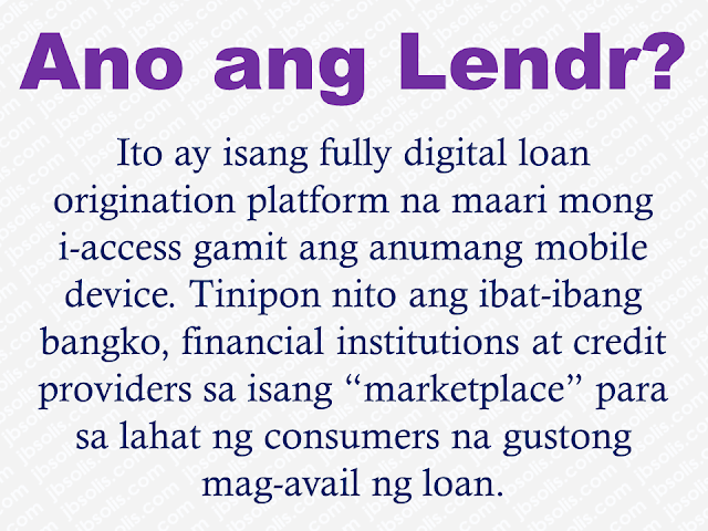 """Many Filipinos patronize a wide-spread illegal lending scheme which collects high-interest rates and rendered by private individuals, mostly to small merchants and vendors. It is commonly known as """"5-6"""".   President Rodrigo Duterte has expressed bad taste towards """"5-6"""" and he wants it to stop because it buries poor people in neck-deep debts and hardly gets away with it. They will continue making loans to pay the other loans.  In this accord, bankers and financial institutions, in their way of helping the government make its citizen free from """"5-6"""", they created a loan marketplace where Filipinos can find their immediate solution to financial problems and by referring others, they also have a chance to earn through KasamaKa and Lendr.  Advertisement         Sponsored Links       What is Lendr?    Lendr is a fully digital loan origination platform that you can access using any mobile device. Lendr aggregates different banks, financial institutions and credit providers into a single """"marketplace"""" for all consumers wishing to avail of loans. You can now """"shop"""" and compare the different loan products via the Lendr Loans Marketplace. You can directly apply for your loan, submit your loan requirements and get approved by your preferred Lendr Partner Bank via the Lendr app or website. No need to go through all the hassle of going to bank branches and waiting for long and tedious loans processing. You can also manage your active loans, monitor loan balance, payment progress and view your amortization schedule using Lendr.    How does Lendr work?  Lendr is your one-stop loans shop to apply for your desired loan products from our partner banks via our Lendr Marketplace. From our website at lendr.com.ph simply create your Lendr account and profile. Once created, you may now choose the type of loan you want to avail and """"shop"""" for your preferred loan offering. Last step is to filling in the appplication details together with all the documents required by your chosen partner bank"""