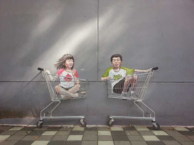Playful Street Art By Lithuanian Artist Ernest Zacharevic On The Streets of Singapore. 1