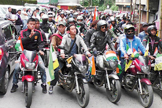 GJYM bike rally for Gorkhaland in Darjeeling