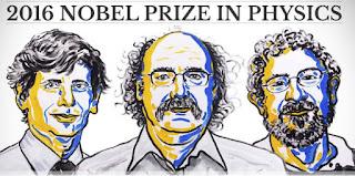Prix Nobel de physique 2016: David Thouless (Royaume-Uni), Duncan Haldane (Royaume-Uni) et Michael Kosterlitz (Royaume-Uni)