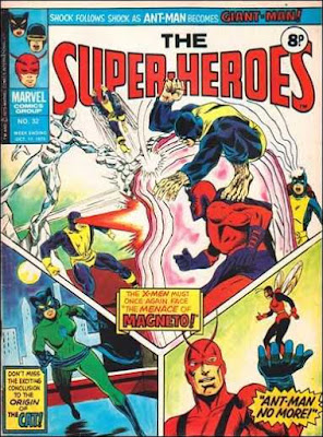 Marvel UK, the Super-Heroes #32, X-Men, Cat and Ant-Man
