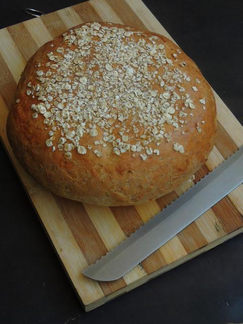 Danish oat loaf, Eggless Oat Loaf, Havrebrød