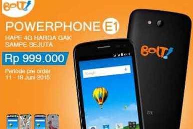 Harga dan Spesifikasi Android Bolt PowerPhone E1