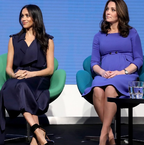 Meghan Markle and Kate Middleton coordinate their outfit for the First Royal Foundation Forum