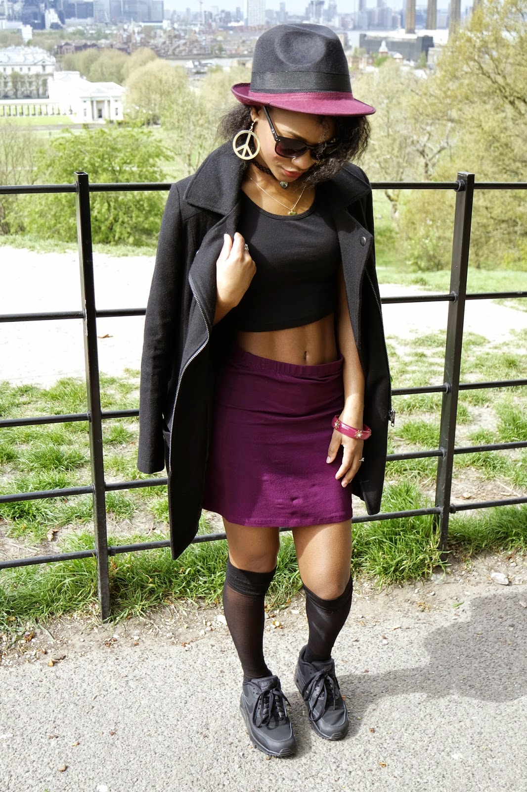 Tashika Bailey | Black With A Touch Of Burgundy