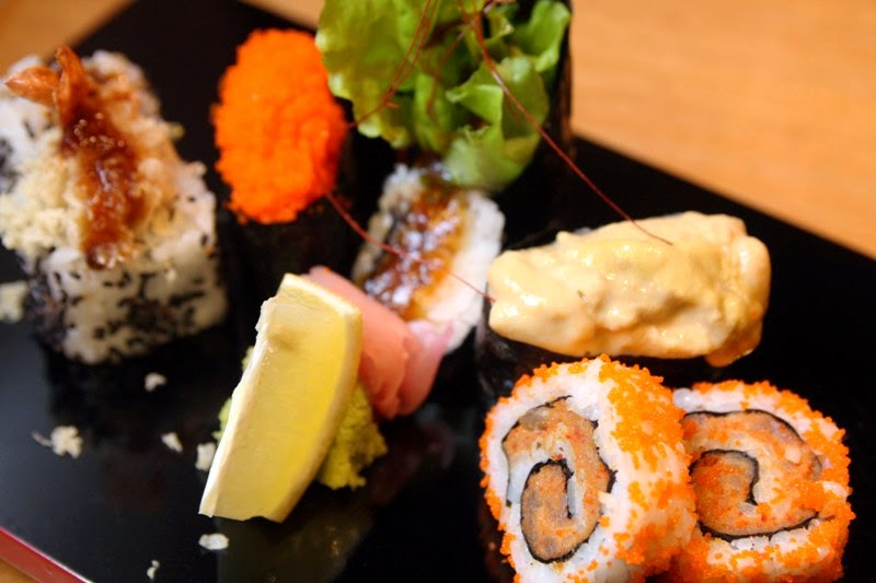 Dynamite Roll, Ebiko and Uni Roll, Spider Roll, Ebi Tempural Roll Yumi Greenhills