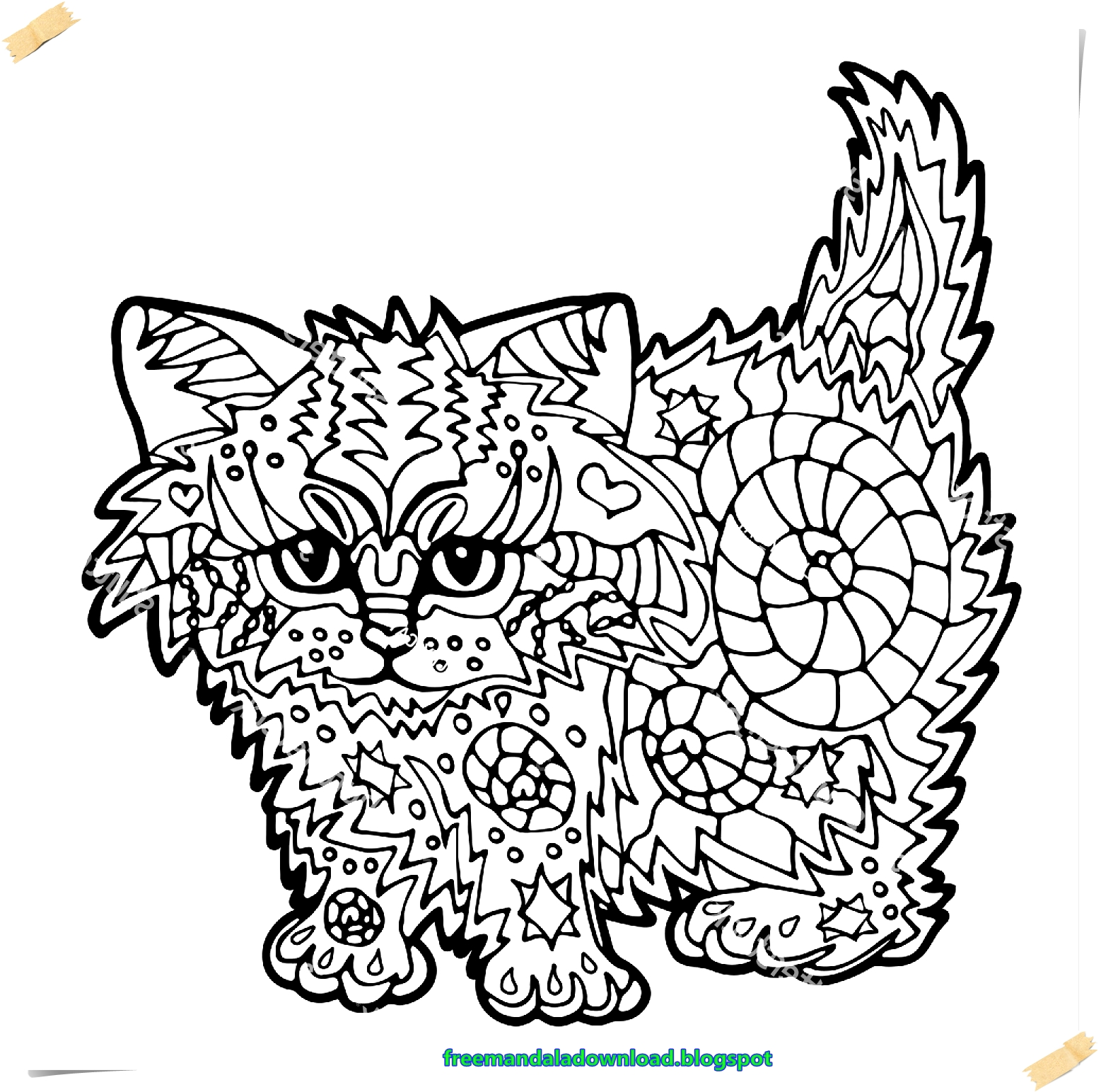 Free Coloring Book Cats
