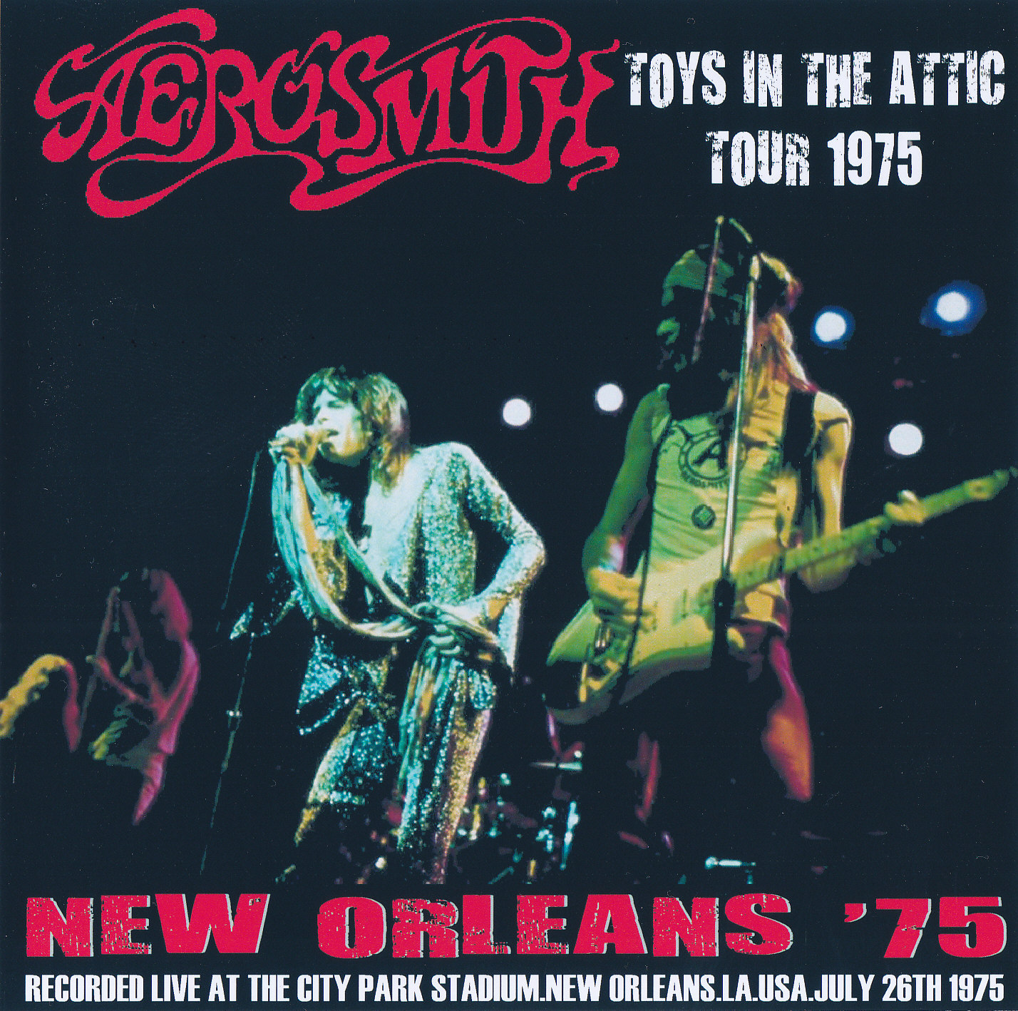 Aerosmith Bootlegs Cover Arts New Orleans 75 July