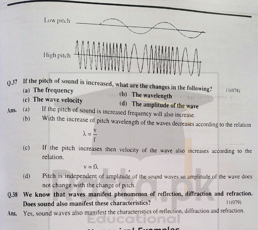 10th Physics Chapter 11 Sound Short Questions