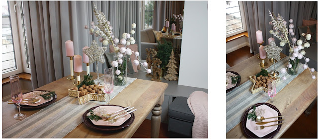 stół świąteczny w stylu glamour