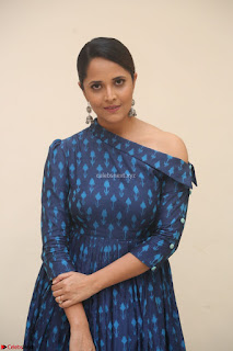 Anchor Anasuya in a Blue Gown at Jai Lava Kusa Trailer Launch ~  Exclusive Celebrities Galleries 045.JPG