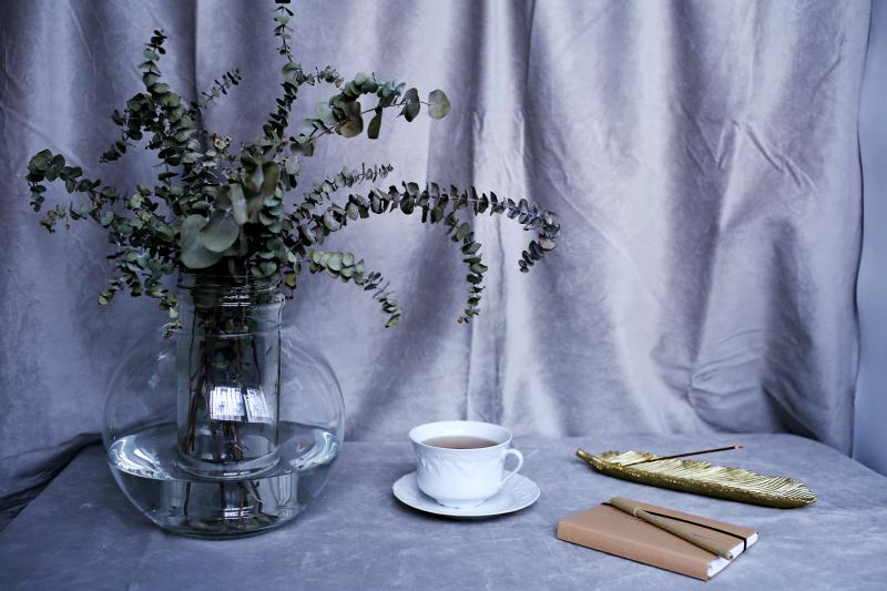 Jarr n de efecto agua para flores secas o artificiales - Humidificar el ambiente ...