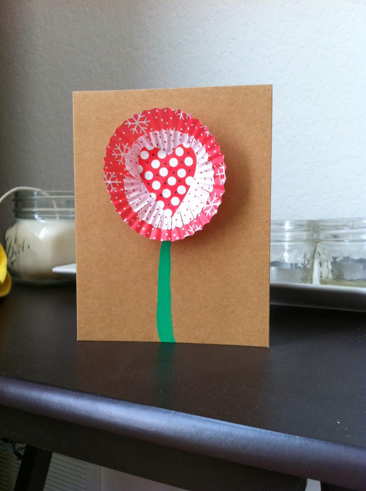 tutorial trials cupcake liner valentine cards