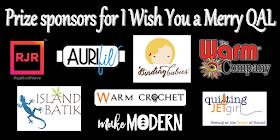Grand prize sponsors for Christmas QAL