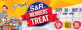 SR Members Treat SALE, Philippine sale, shopping, sale, promo