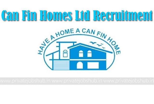 Can Fin Homes Ltd Recruitment