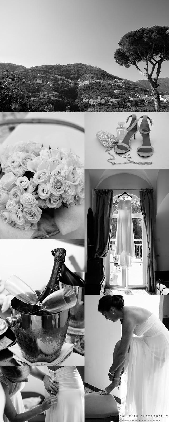 Bridal preparations at Hotel Giordano in Ravello