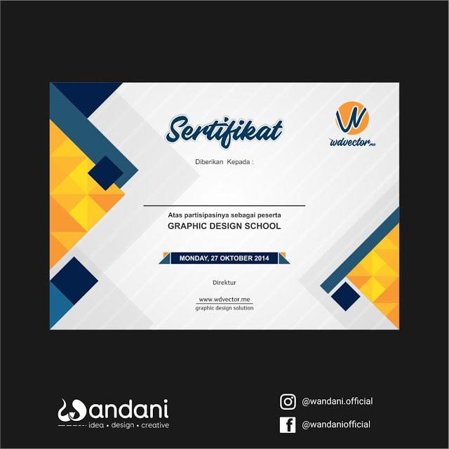 Download sertifikat CDR keren dan kreatif