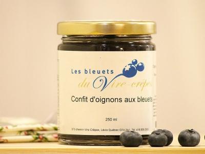 Un confit d'oignons et bleuets du Vire-Crêpes