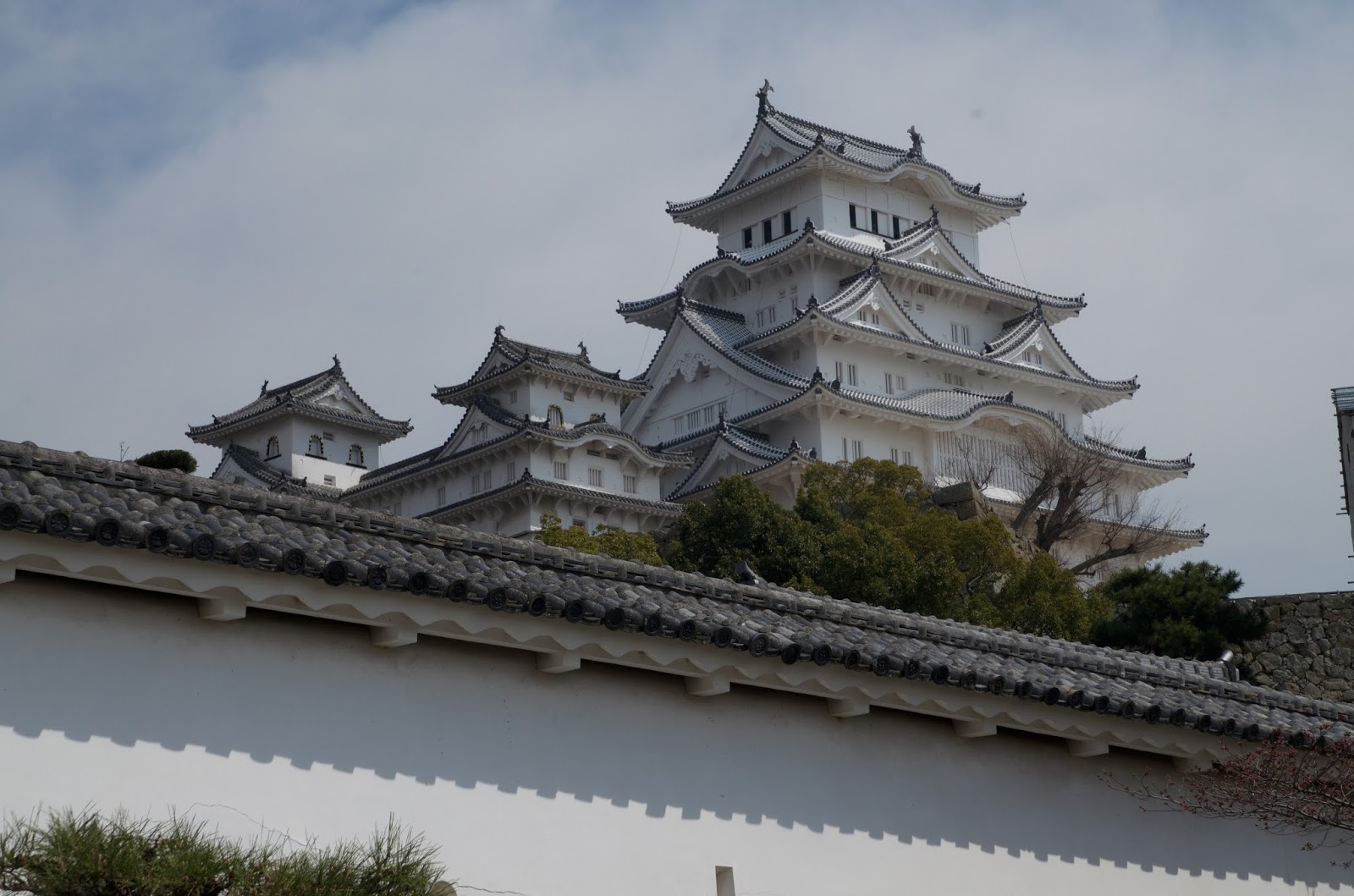 from the train station the castle is visible still dominating even a modern japanese city - Traditional Castle 2016