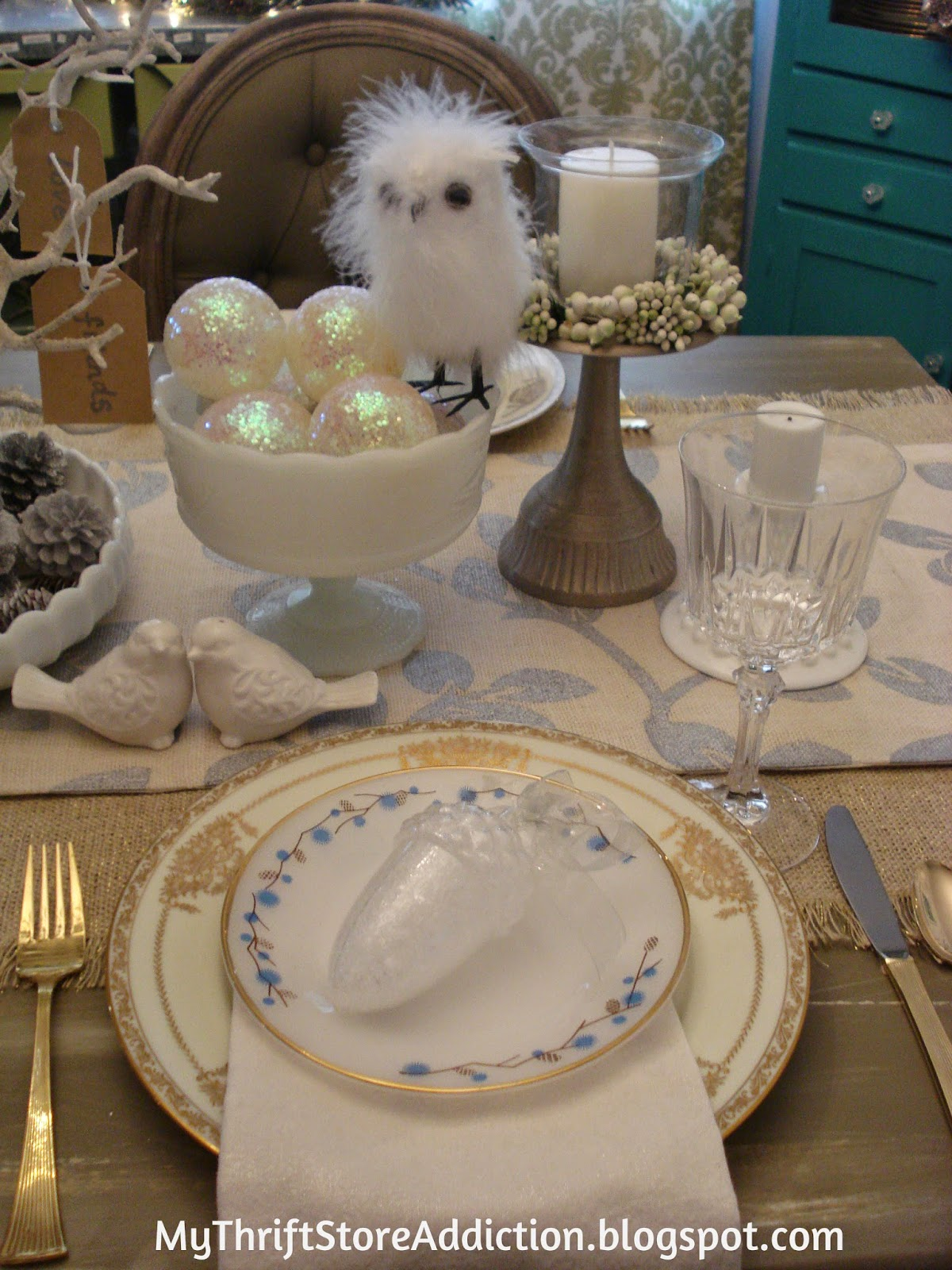Vintage milk glass and china