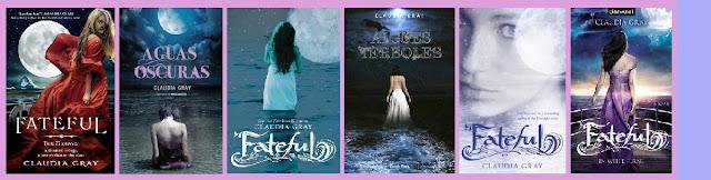 portadas de la novela juvenil de fantasía Aguas oscuras, de Claudia Gray