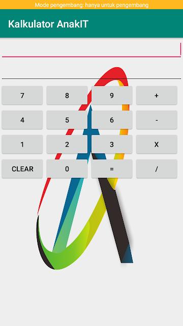 tampilan dari membuat kalkulator di android studio