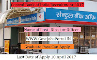Central Bank of India Recruitment 2017– Director