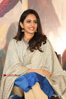 Actress Rakul Preet Singh Stills in Blue Salwar Kameez at Rarandi Veduka Chudam Press Meet  0041.JPG