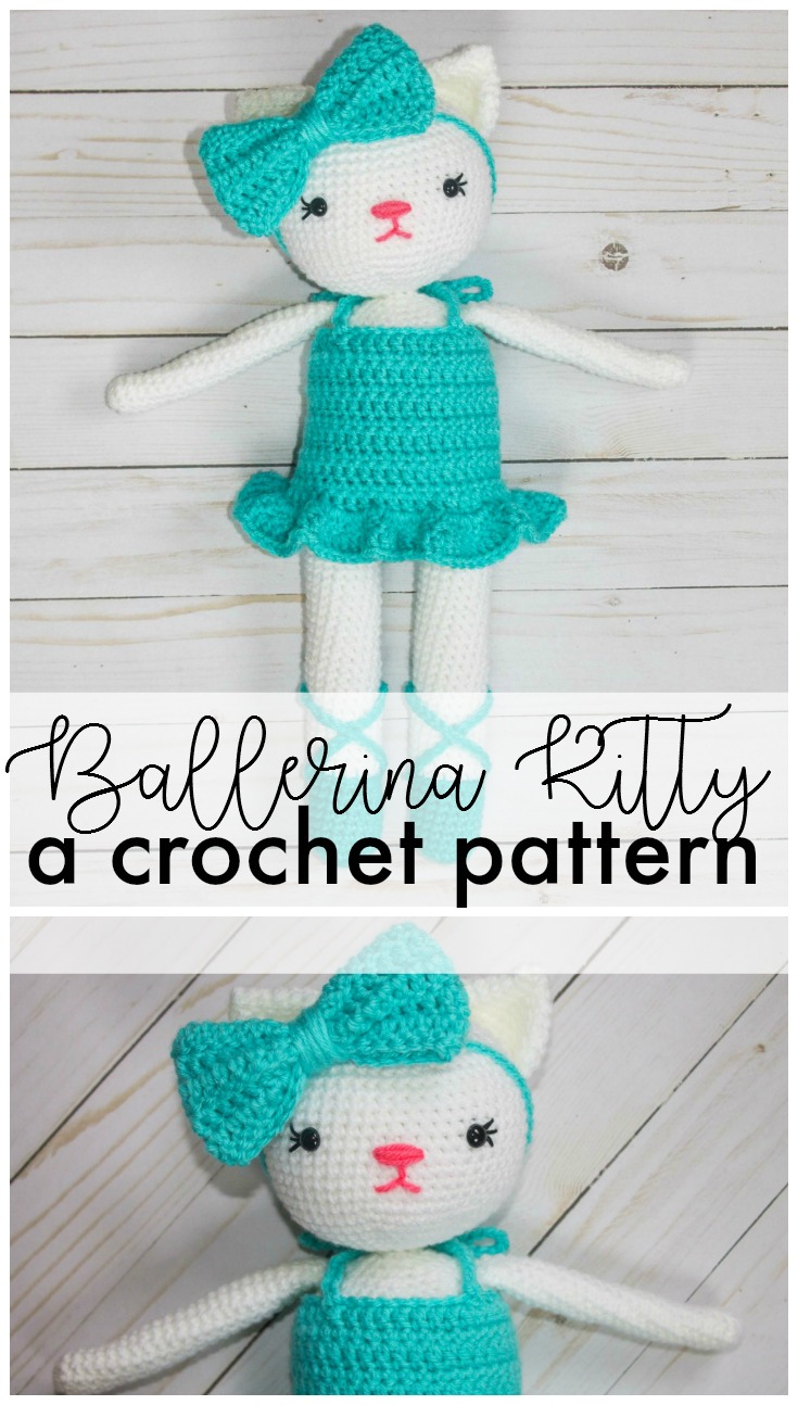 Ballerina Kitty Crochet Pattern - thefriendlyredfox.com