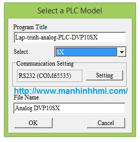 Tạo file hướng dẫn lập trình PLC Delta DVP10SX