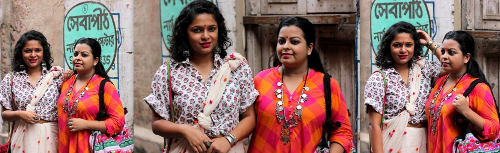 Two different styles for Bengali New Year (Nobo Borsho) with Kurta and Saree - LiveLaughDressupxStylePrism