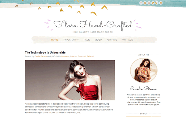 Flora Hand-Crafted Free Blogger Template