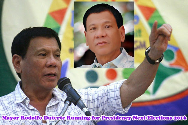 Mayor Rodolfo Duterte of Davao City Running for Presidency Next Elections 2016