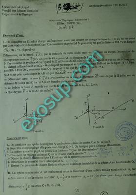 contrôles corrigés Electricité I SMPC SMA FSSM