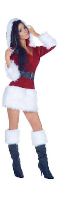 Wrapped up santa costume