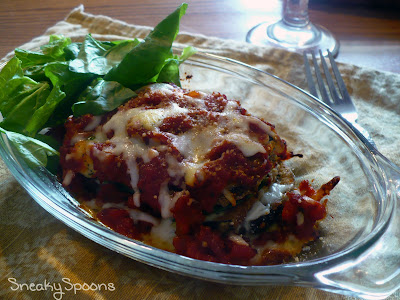 Layered Eggplant Parmesan for Two by SneakySpoons
