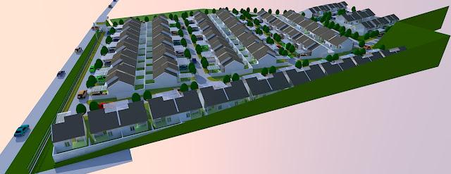 site plan perumahan cluster