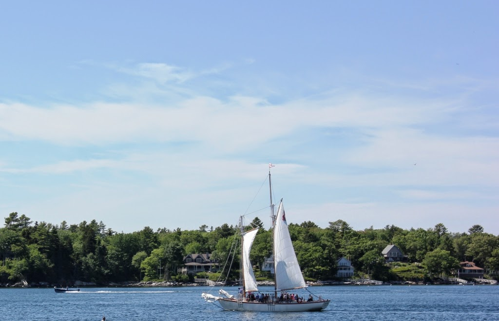 Sailing in Boothbay Harbor